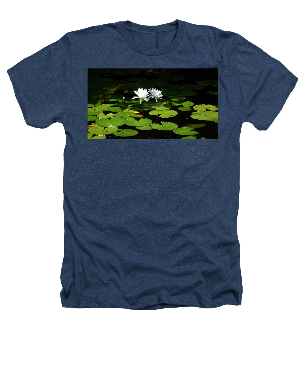 Water Heathers T-Shirt featuring the photograph Wading Fairies by Shelley Jones