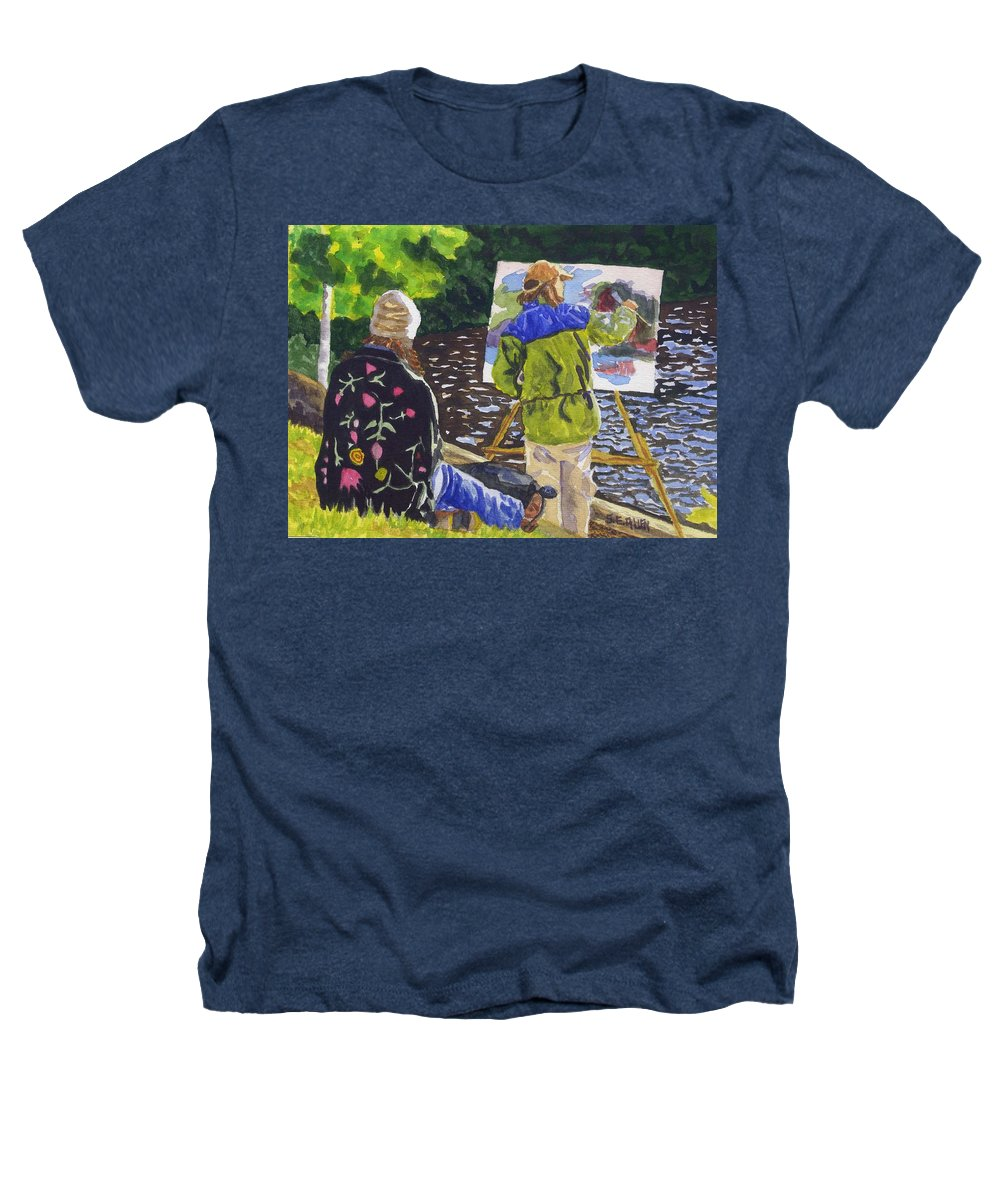 Artist Heathers T-Shirt featuring the painting Watching The Maestro by Sharon E Allen