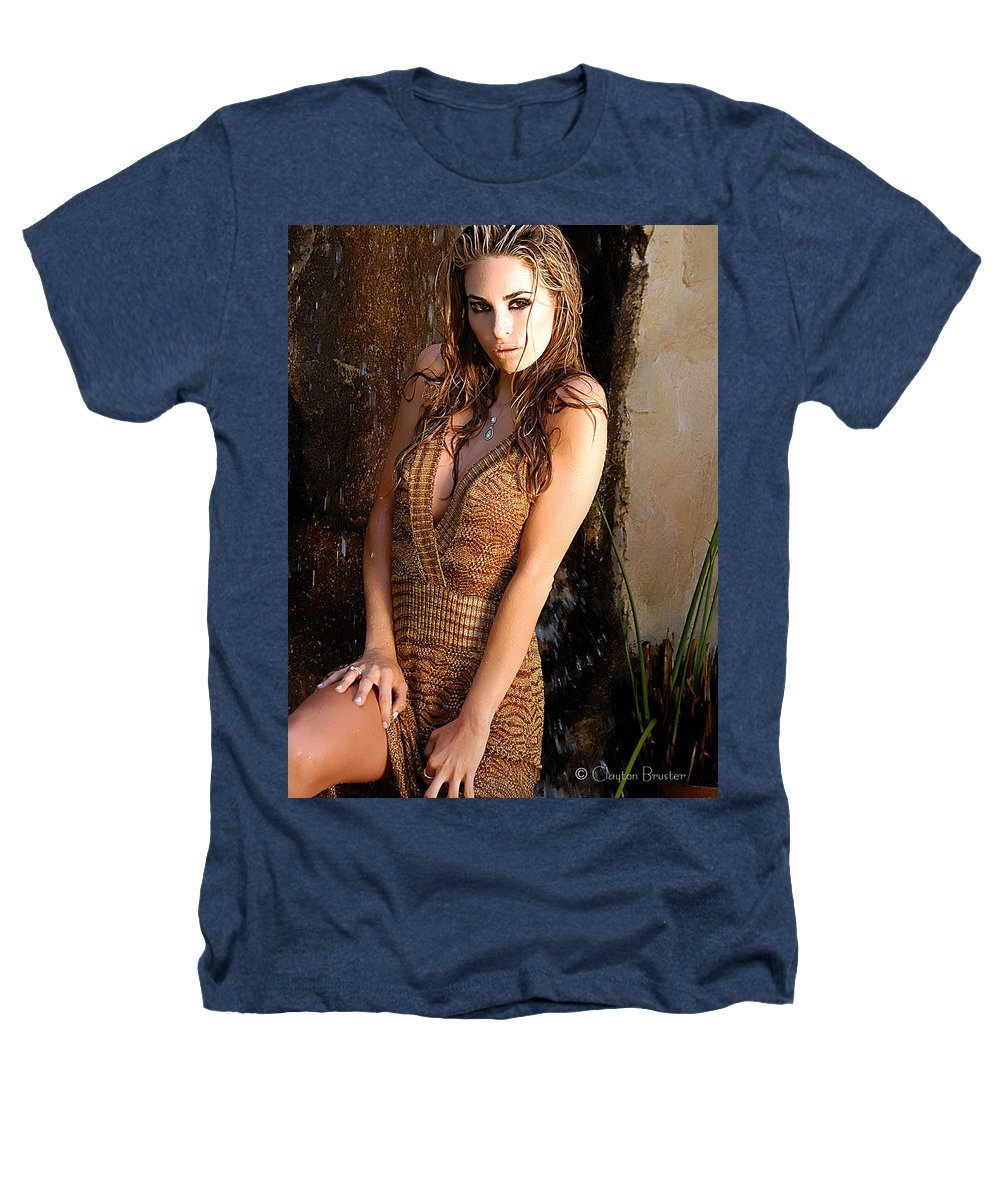Clay Heathers T-Shirt featuring the photograph Water Fall Beauty by Clayton Bruster
