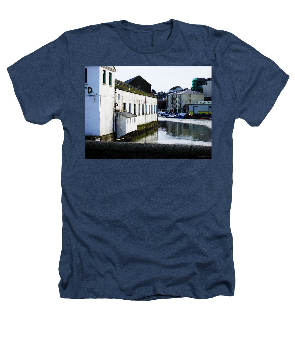 River Heathers T-Shirt featuring the photograph Waterfront Factory by Tim Nyberg