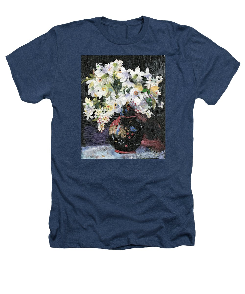 Limited Edition Prints Heathers T-Shirt featuring the painting White Celebration by Nira Schwartz