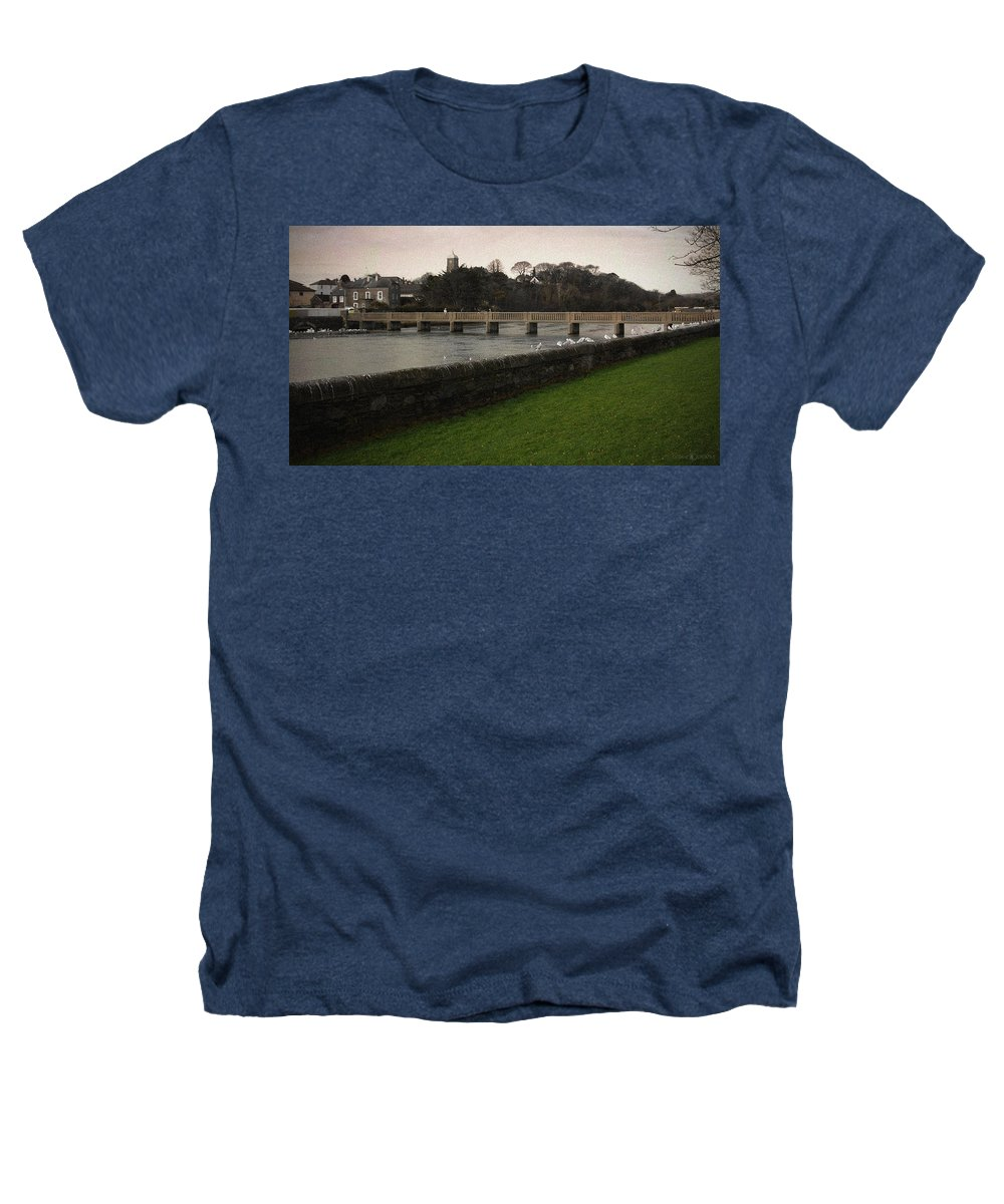 Footbridge Heathers T-Shirt featuring the photograph Wicklow Footbridge by Tim Nyberg