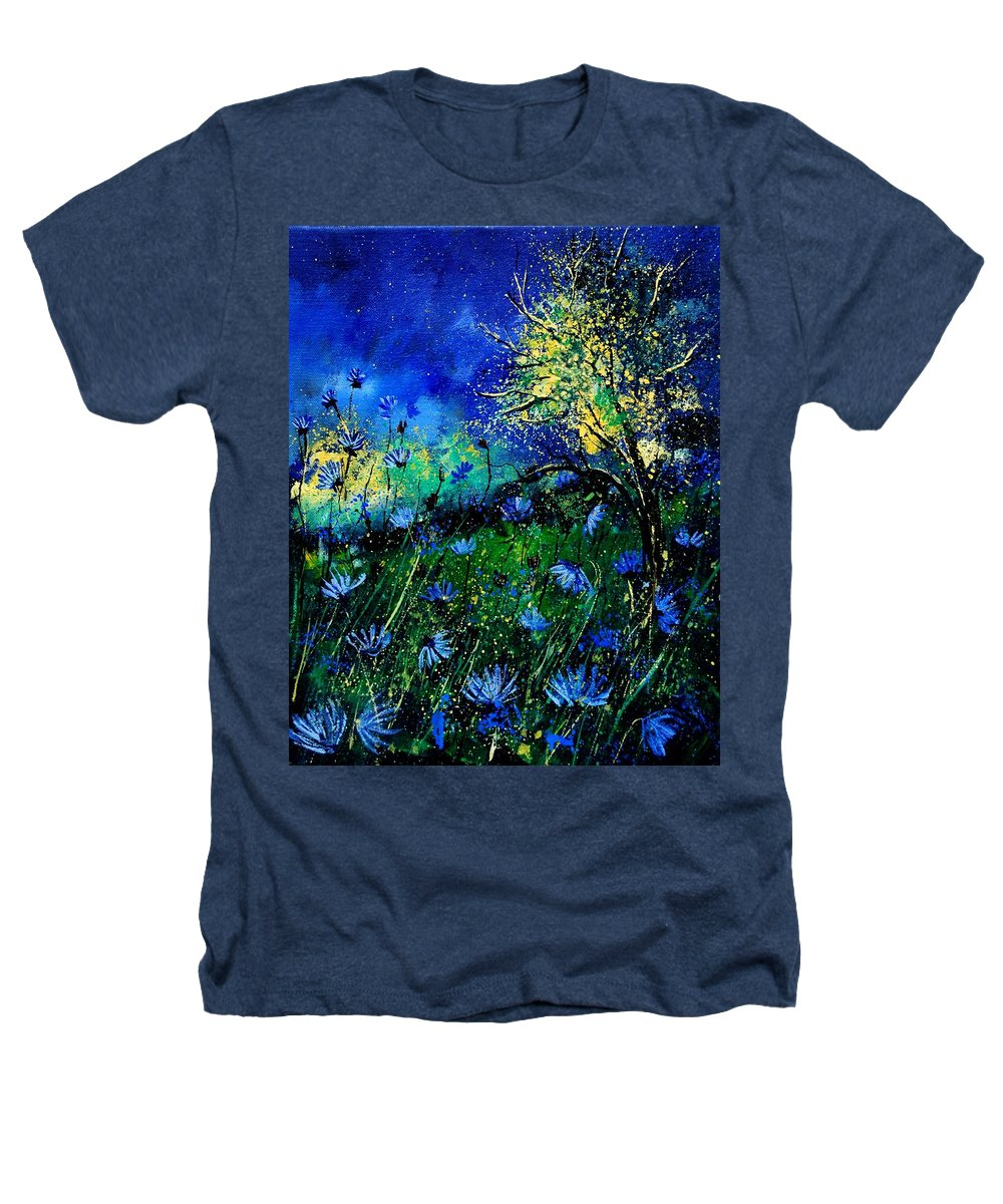 Poppies Heathers T-Shirt featuring the painting Wild Chocoree by Pol Ledent