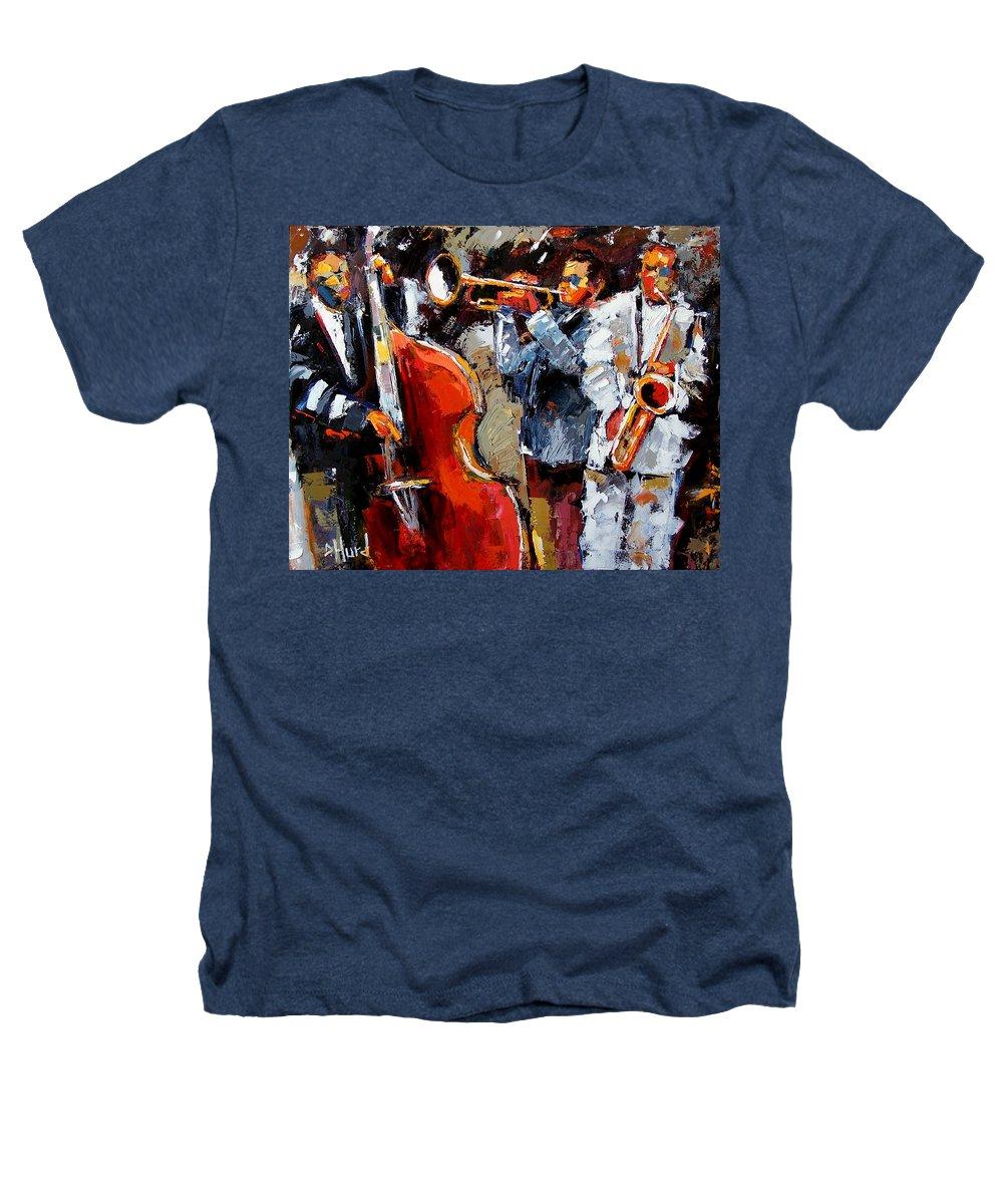 Jazz Heathers T-Shirt featuring the painting Wild Jazz by Debra Hurd