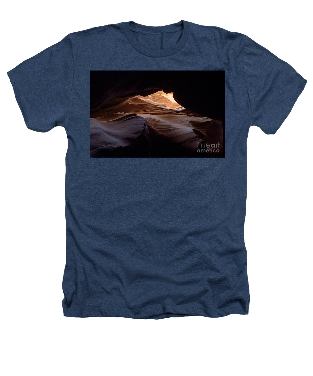Antelope Canyon Heathers T-Shirt featuring the photograph Wind And Water by Kathy McClure
