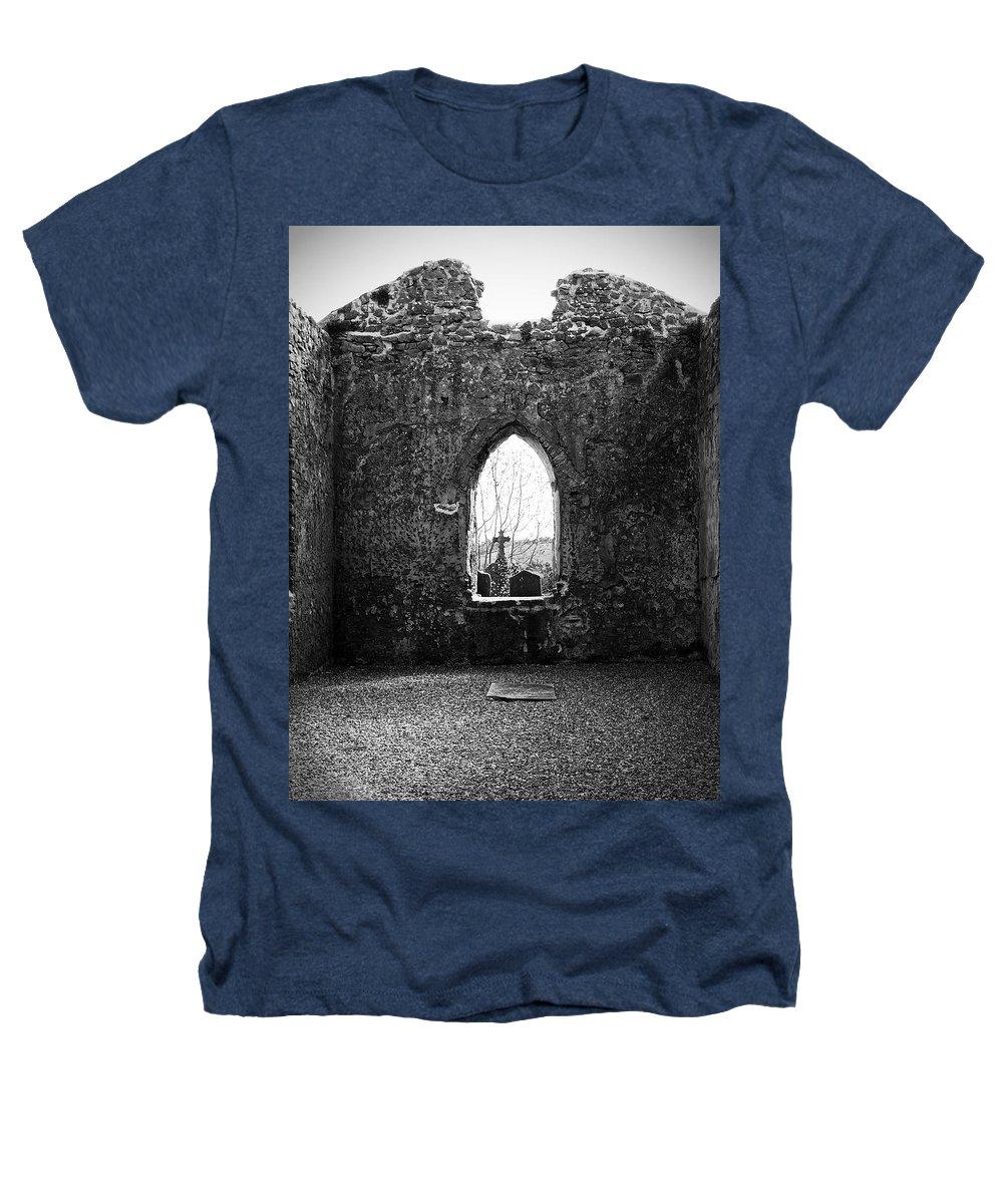 Ireland Heathers T-Shirt featuring the photograph Window At Fuerty Church Roscommon Ireland by Teresa Mucha