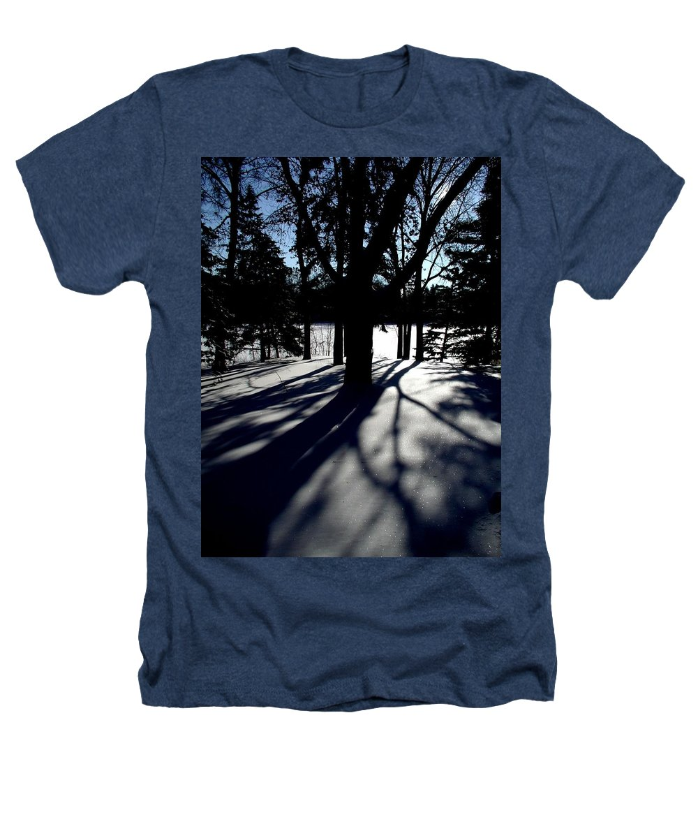Landscape Heathers T-Shirt featuring the photograph Winter Shadows 2 by Tom Reynen