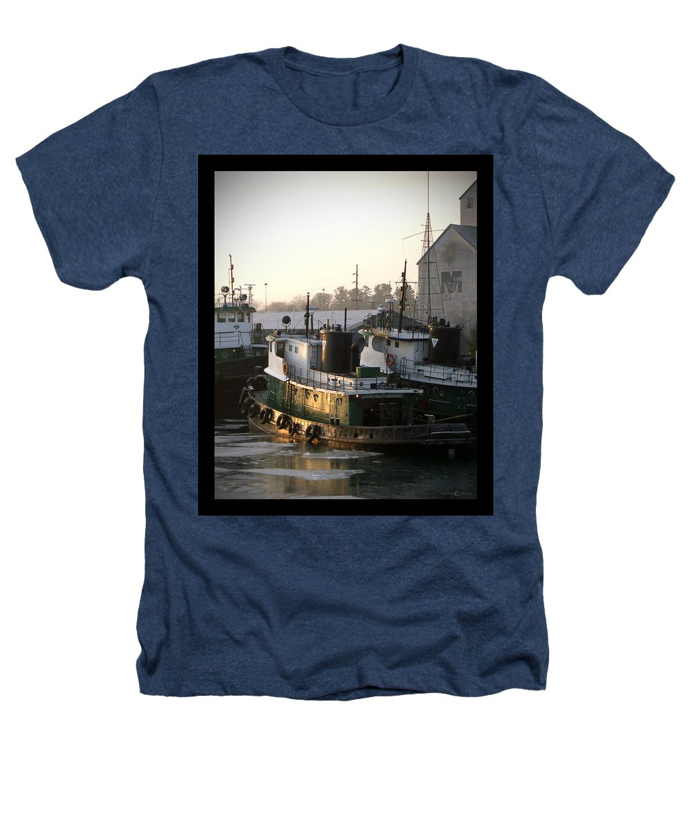 Tugs Heathers T-Shirt featuring the photograph Winter Tugs by Tim Nyberg
