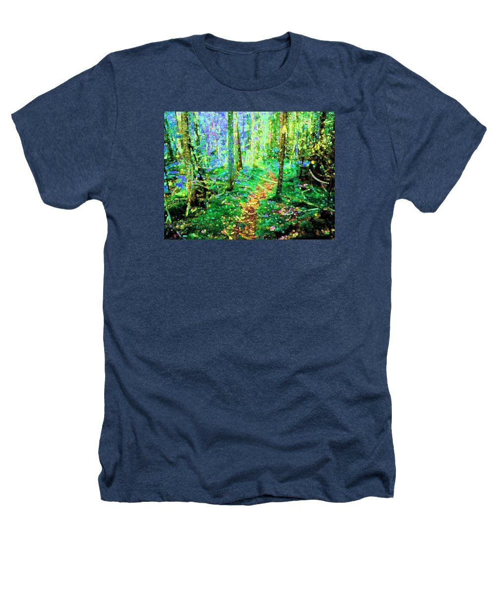 Nature Heathers T-Shirt featuring the digital art Wooded Trail by Dave Martsolf