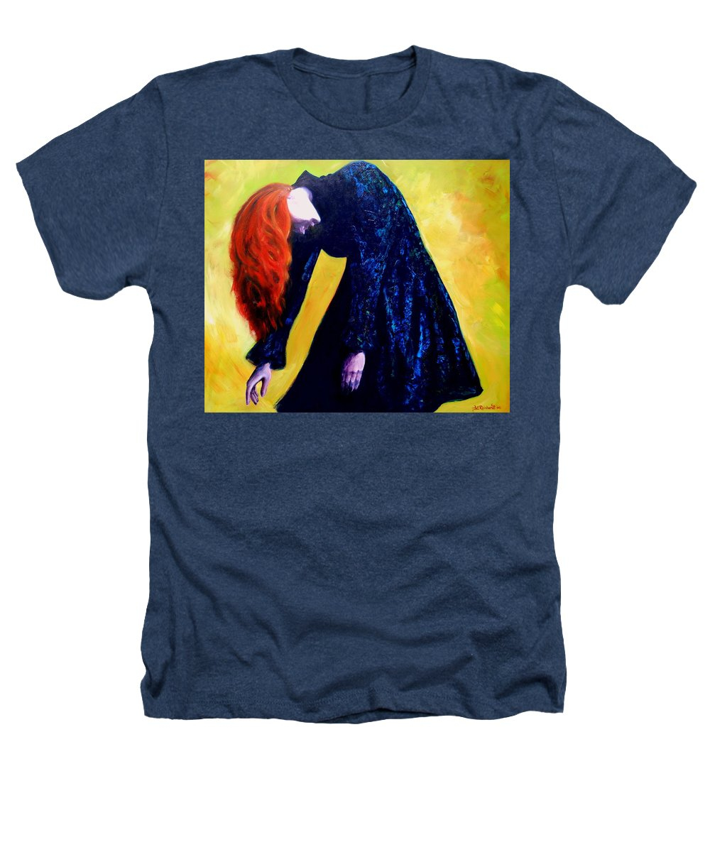 Acrylic Heathers T-Shirt featuring the painting Wound Down by Jason Reinhardt