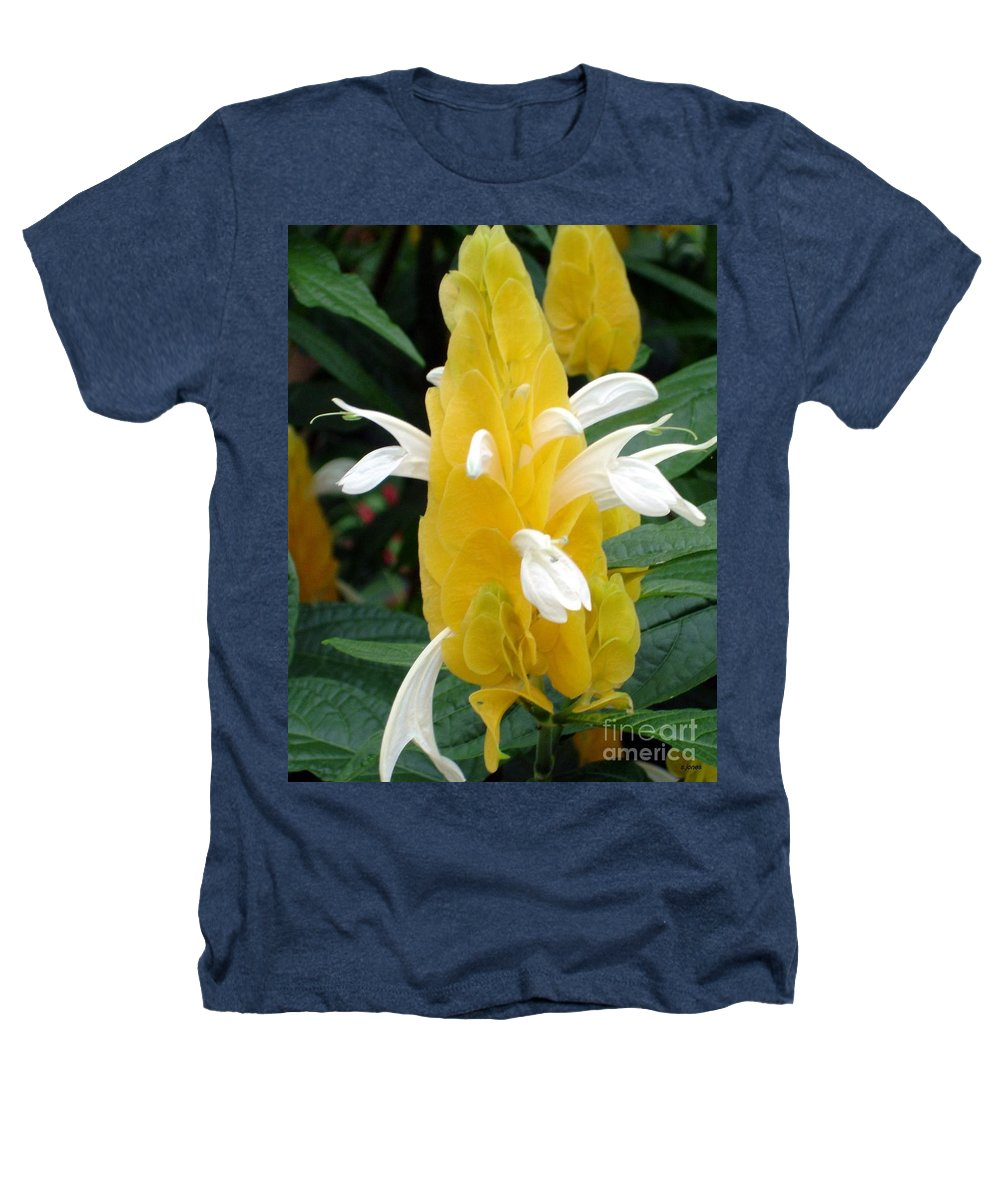 Flower Heathers T-Shirt featuring the photograph Yellow Eruption by Shelley Jones
