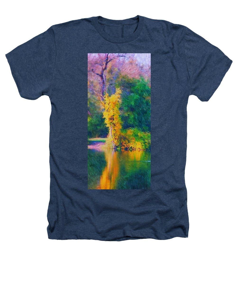 Digital Landscape Heathers T-Shirt featuring the digital art Yellow Reflections by David Lane