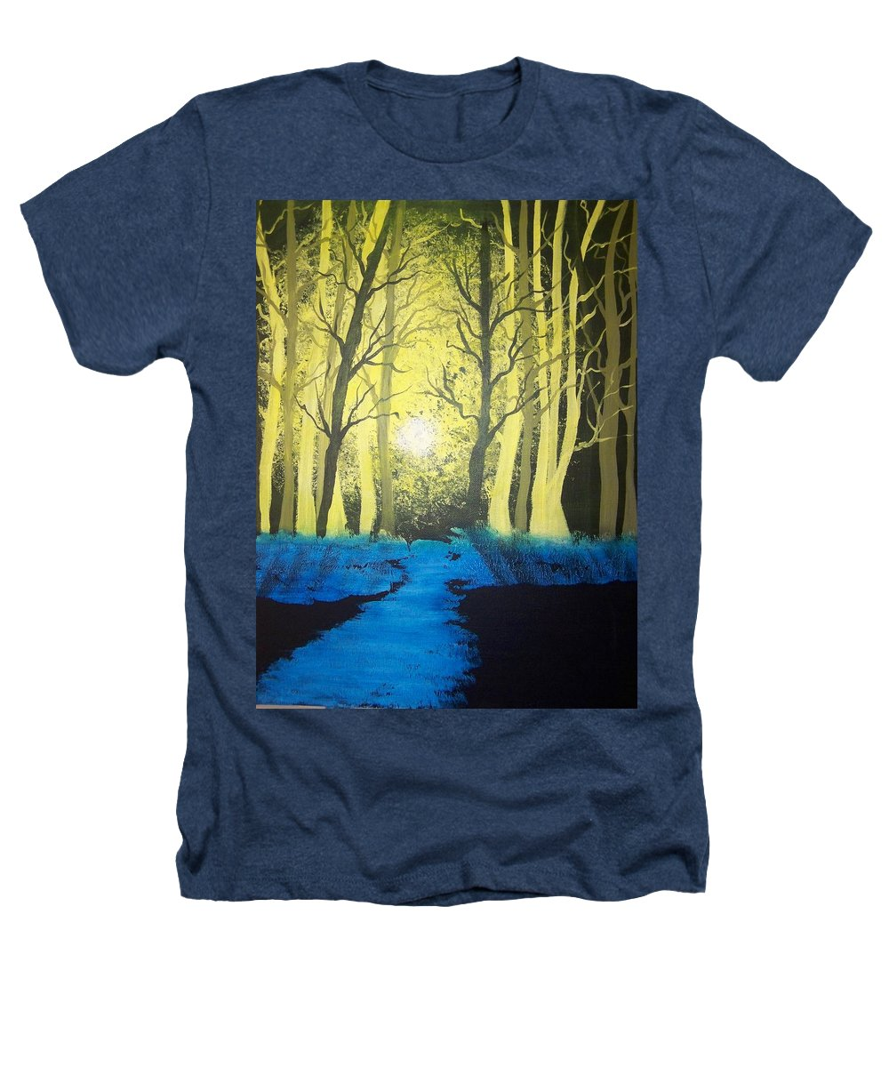 Forest Heathers T-Shirt featuring the painting You Cant See The Forest For The Trees by Laurie Kidd
