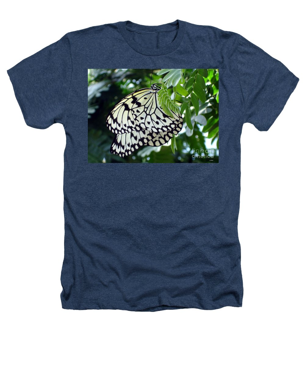 Butterfly Heathers T-Shirt featuring the photograph Zebra In Disguise by Shelley Jones