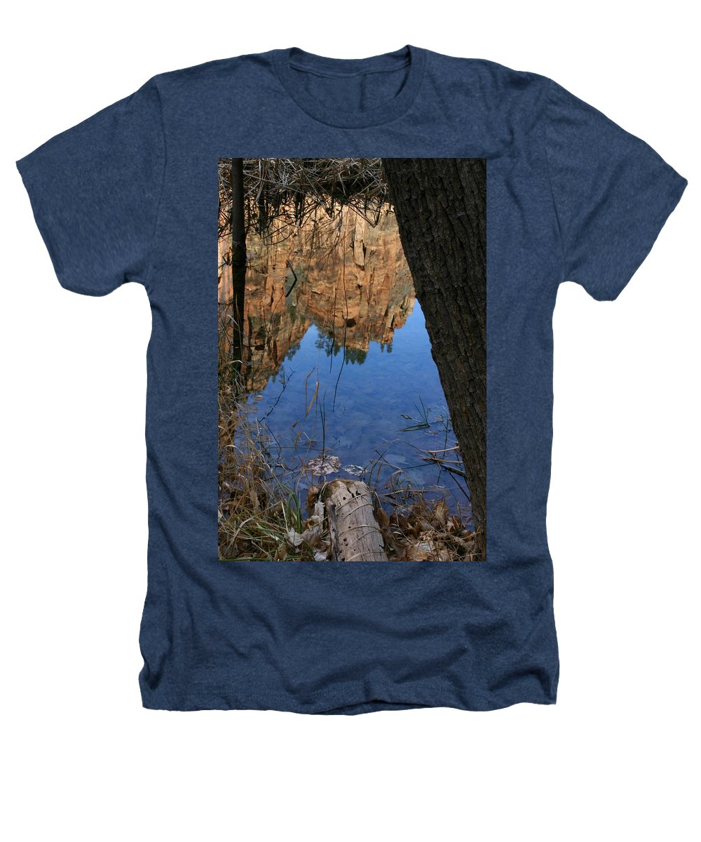 Zion Heathers T-Shirt featuring the photograph Zion Reflections by Nelson Strong