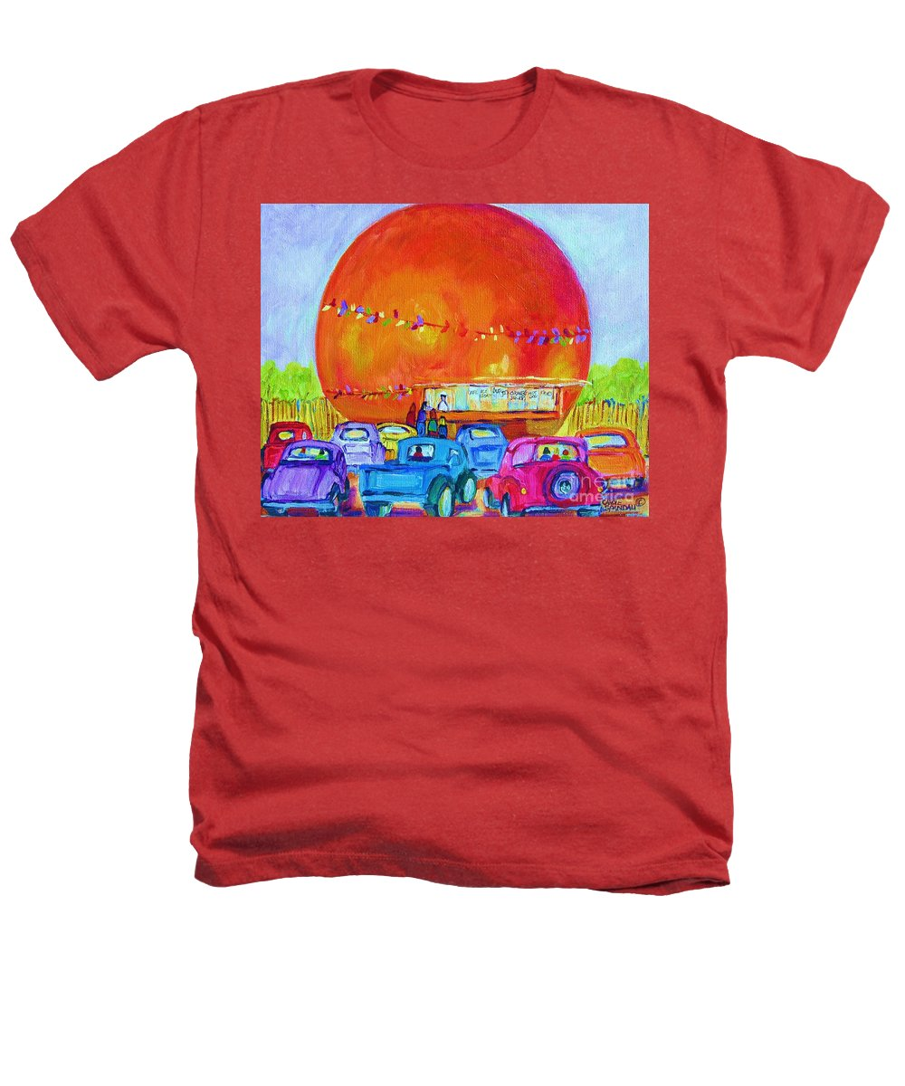 Cars Heathers T-Shirt featuring the painting Antique Cars At The Julep by Carole Spandau