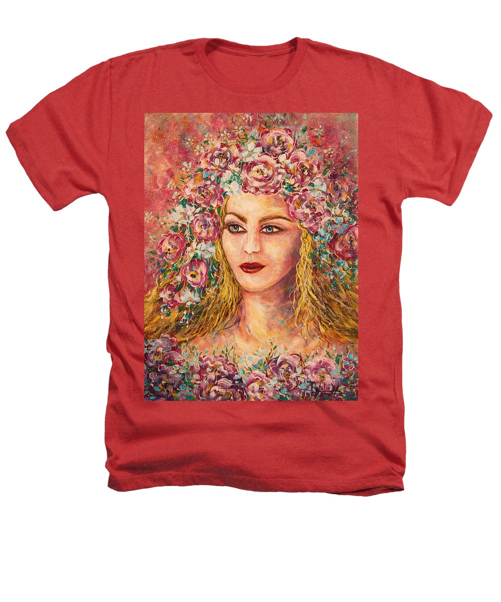 Goddess Heathers T-Shirt featuring the painting Good Fortune Goddess by Natalie Holland