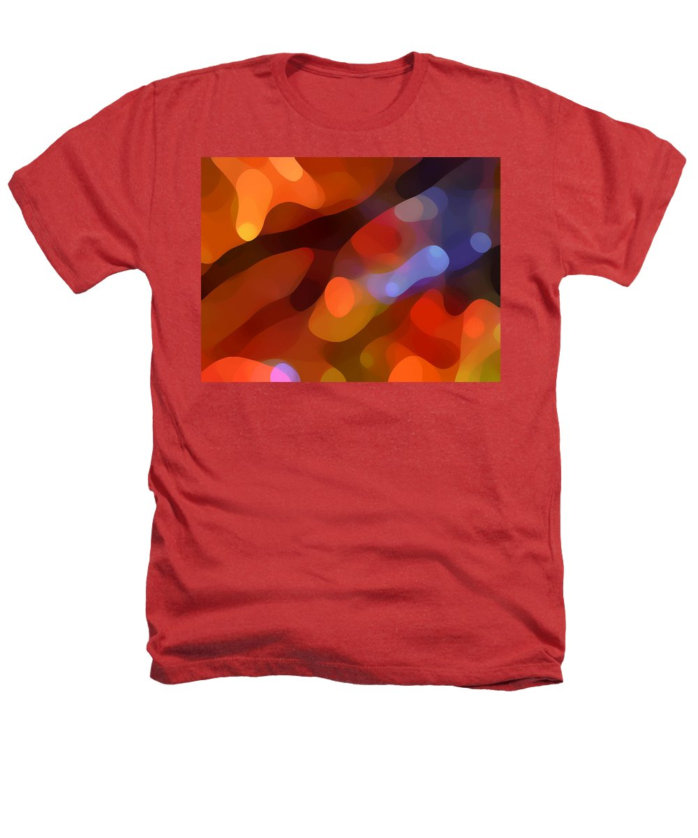 Abstract Art Heathers T-Shirt featuring the painting Abstract Fall Light by Amy Vangsgard