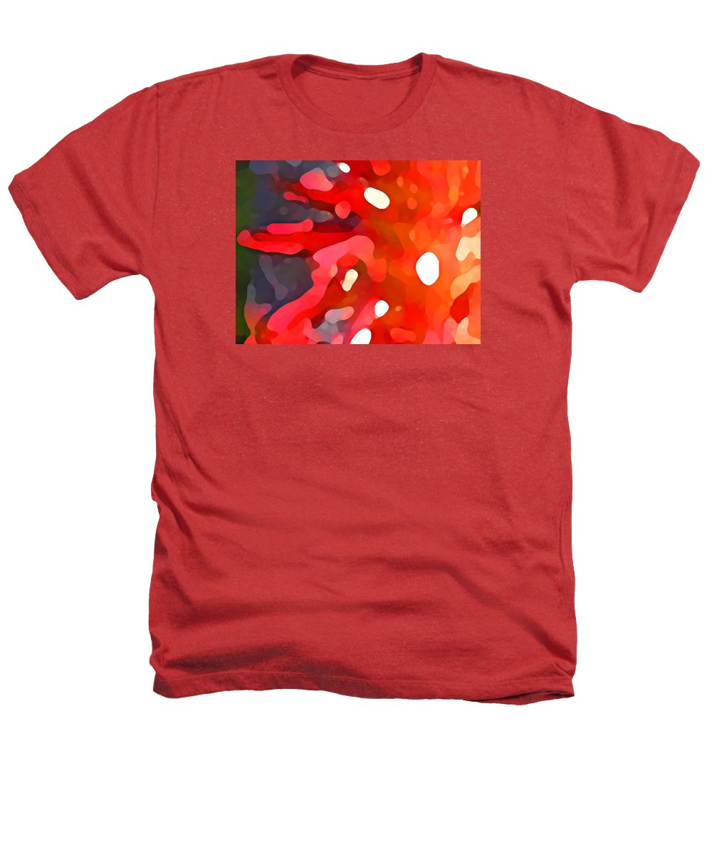 Bold Heathers T-Shirt featuring the painting Abstract Red Sun by Amy Vangsgard