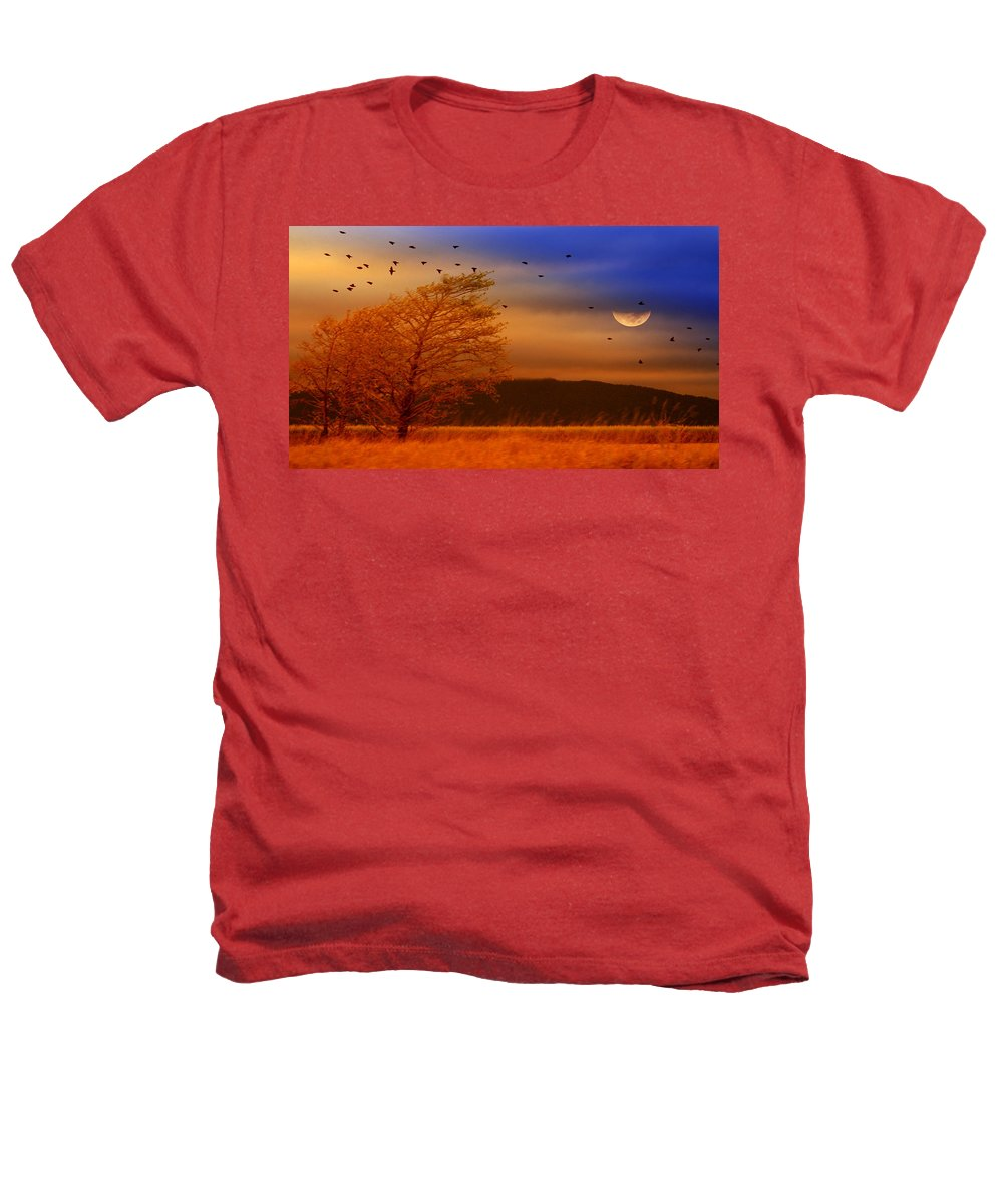 Landscape Heathers T-Shirt featuring the photograph Against The Wind by Holly Kempe