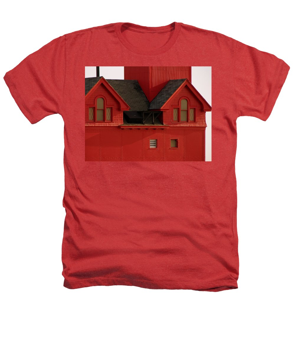 Windows Heathers T-Shirt featuring the photograph Big Red Holland Harbor Light Michigan by Michelle Calkins