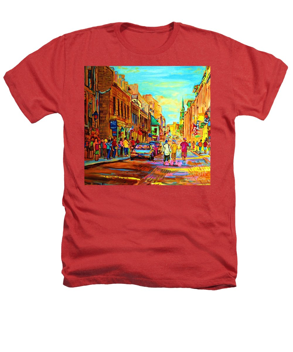 Montreal Heathers T-Shirt featuring the painting Follow The Yellow Brick Road by Carole Spandau