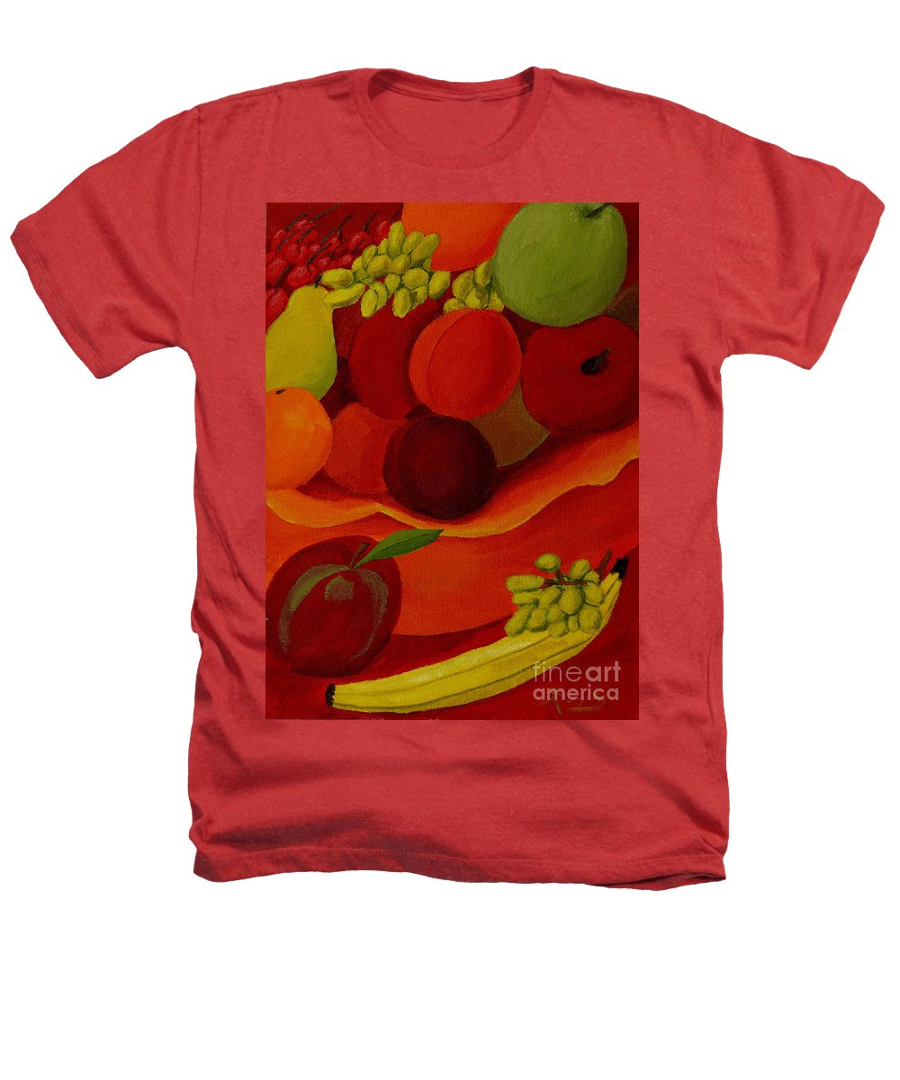 Fruit Heathers T-Shirt featuring the painting Fruit-still Life by Anthony Dunphy
