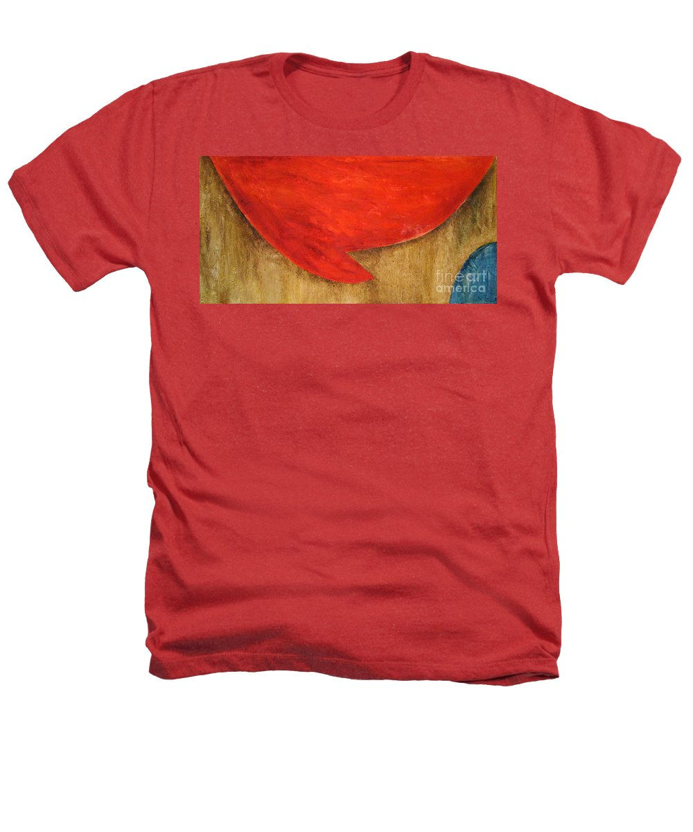 Abstract Heathers T-Shirt featuring the painting Hot Spot by Silvana Abel