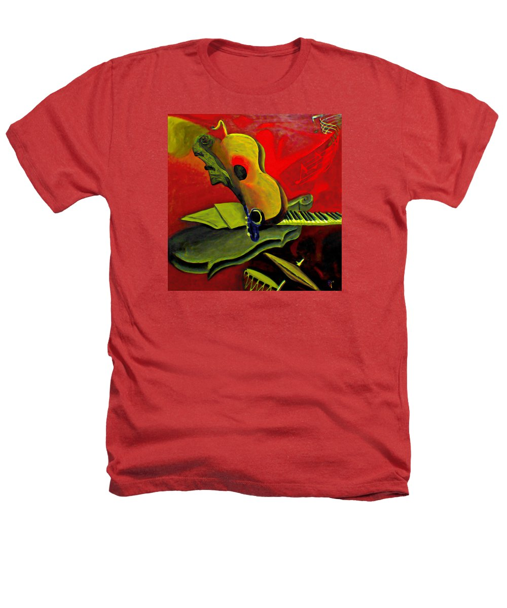 Abstract Heathers T-Shirt featuring the painting Jazz Infusion by Fli Art