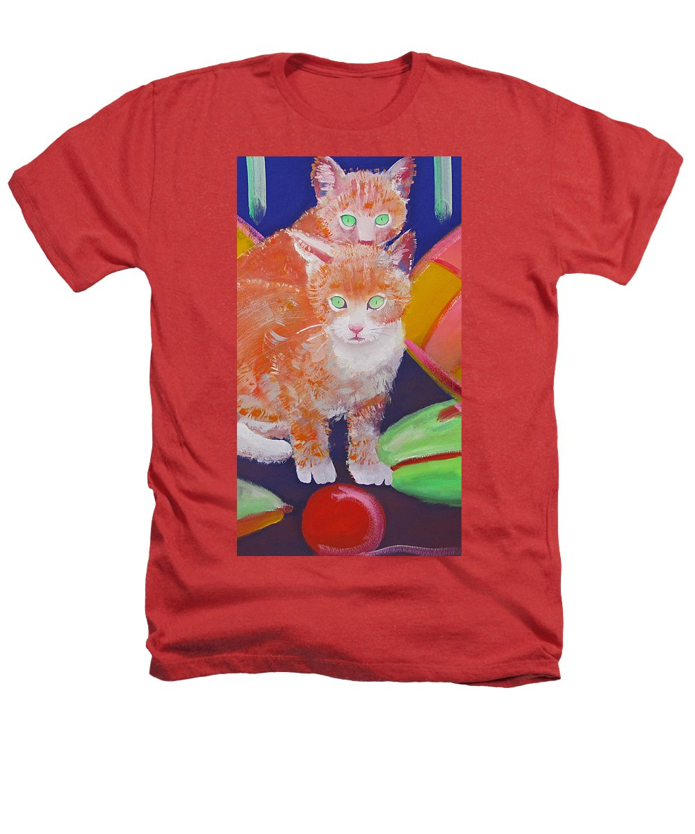 Kittens Heathers T-Shirt featuring the painting kittens With A Ball of Wool by Charles Stuart