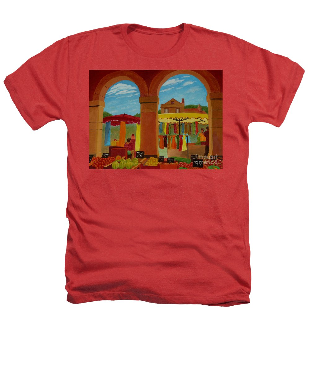 Landscape Heathers T-Shirt featuring the painting Market Day by Anthony Dunphy