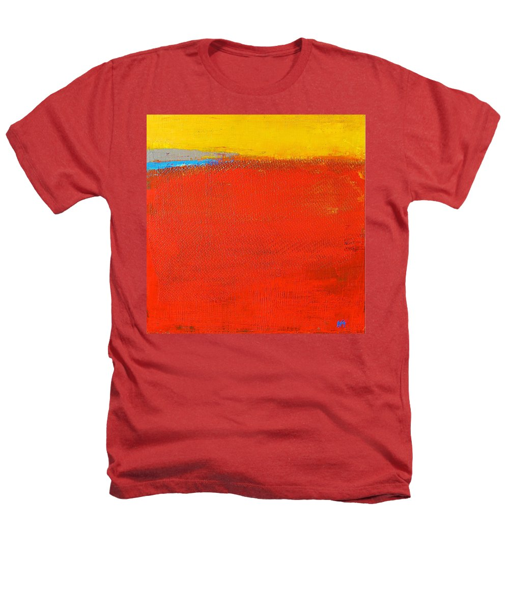 Landscape Heathers T-Shirt featuring the painting Nature Rouge by Habib Ayat