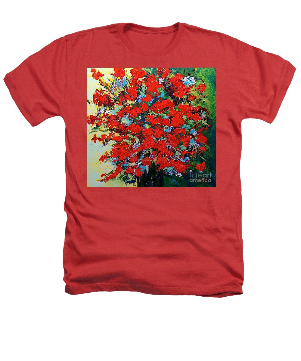 Landscape Heathers T-Shirt featuring the painting One Of A Kind by Allan P Friedlander