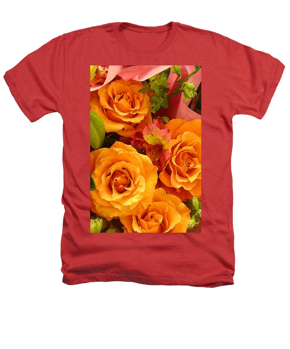Roses Heathers T-Shirt featuring the painting Orange Roses by Amy Vangsgard
