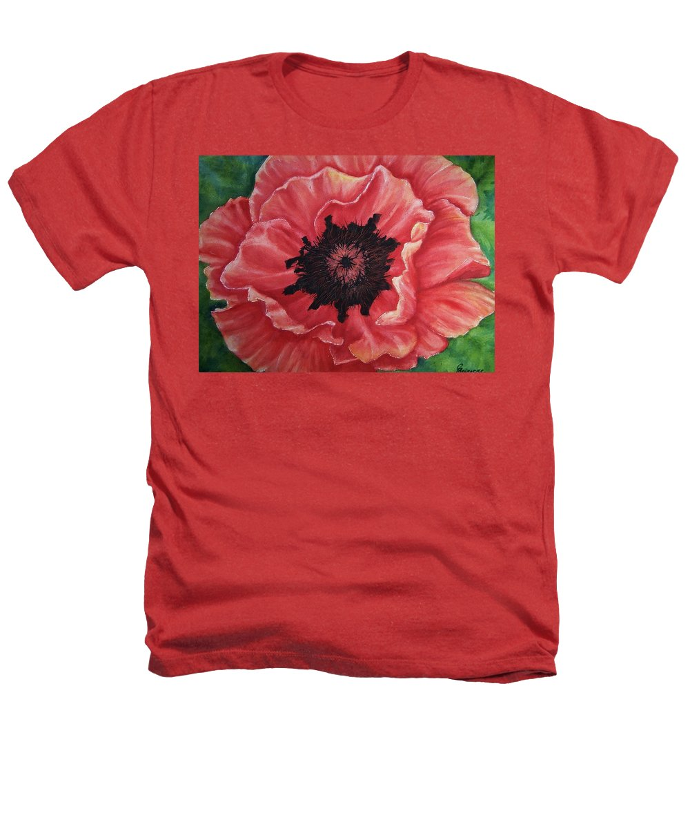 Poppy Heathers T-Shirt featuring the painting Poppy by Conni Reinecke