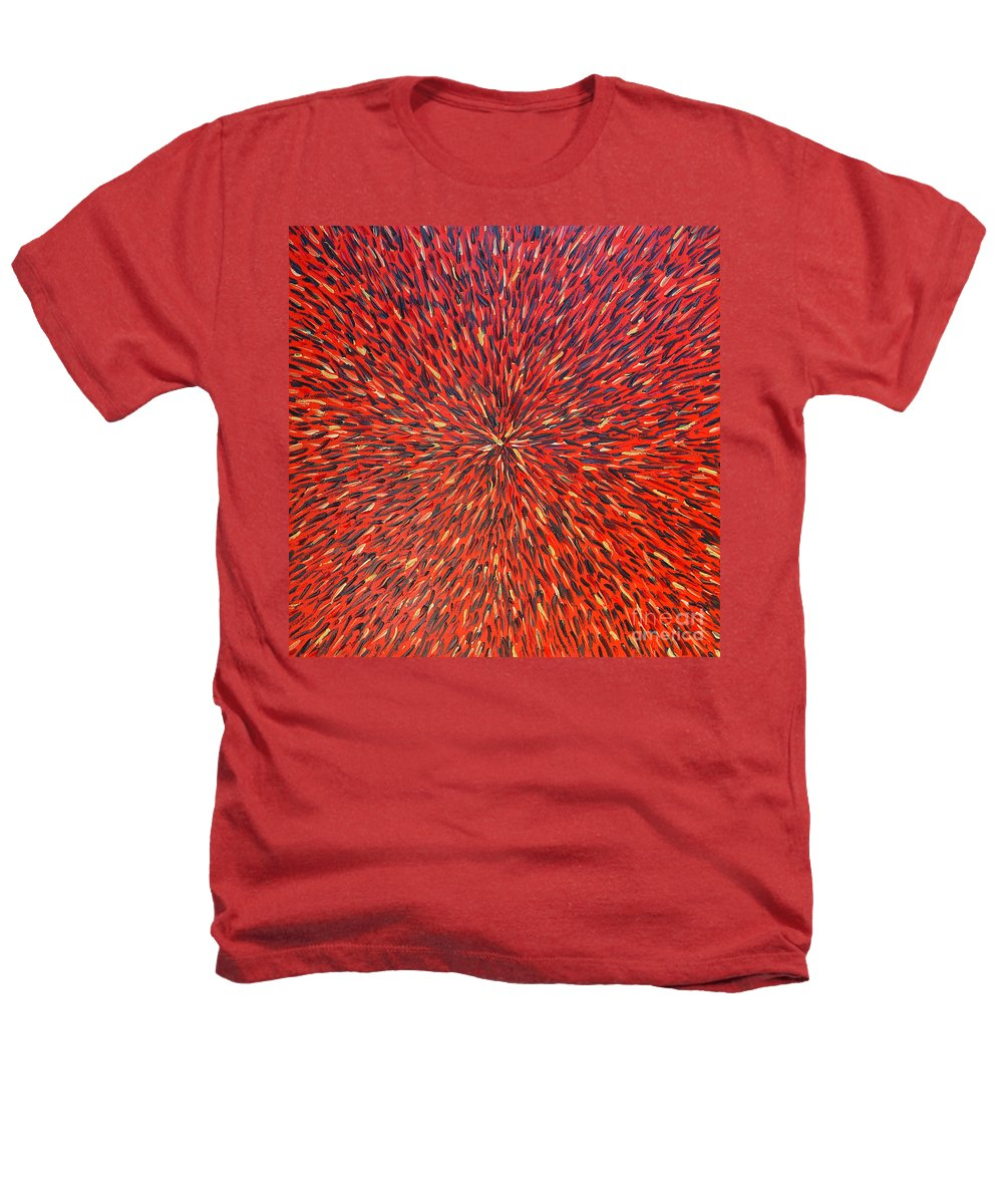 Abstract Heathers T-Shirt featuring the painting Radiation Red by Dean Triolo