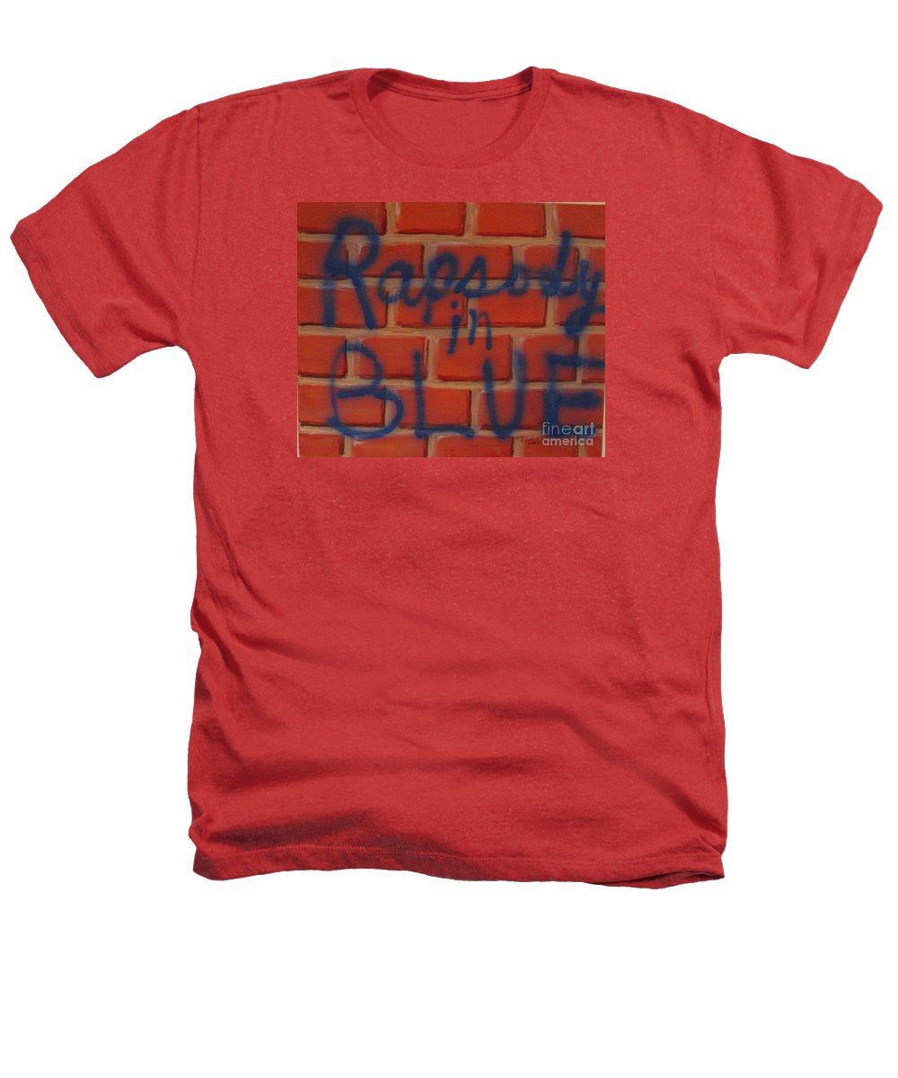 Abstract Heathers T-Shirt featuring the painting Rapsody In Blue by Laurie Morgan