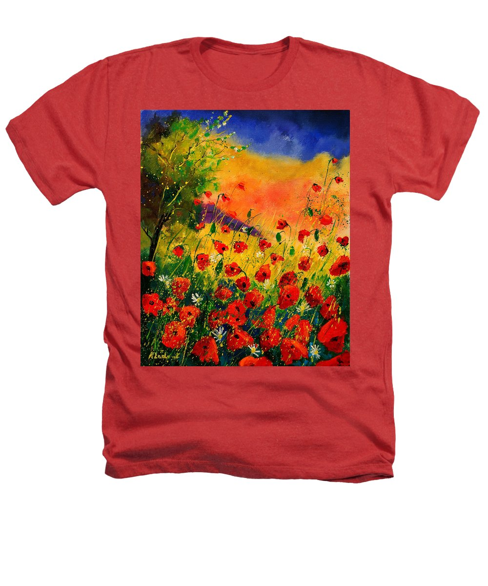 Poppies Heathers T-Shirt featuring the painting Red Poppies 45 by Pol Ledent