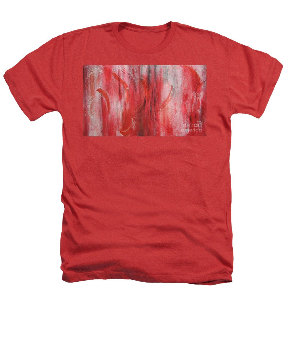 Modern Art Heathers T-Shirt featuring the painting Red Sea by Silvana Abel