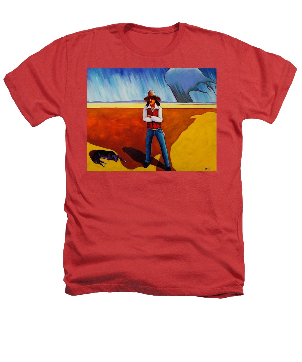 Native American Heathers T-Shirt featuring the painting The Logic Of Solitude by Joe Triano