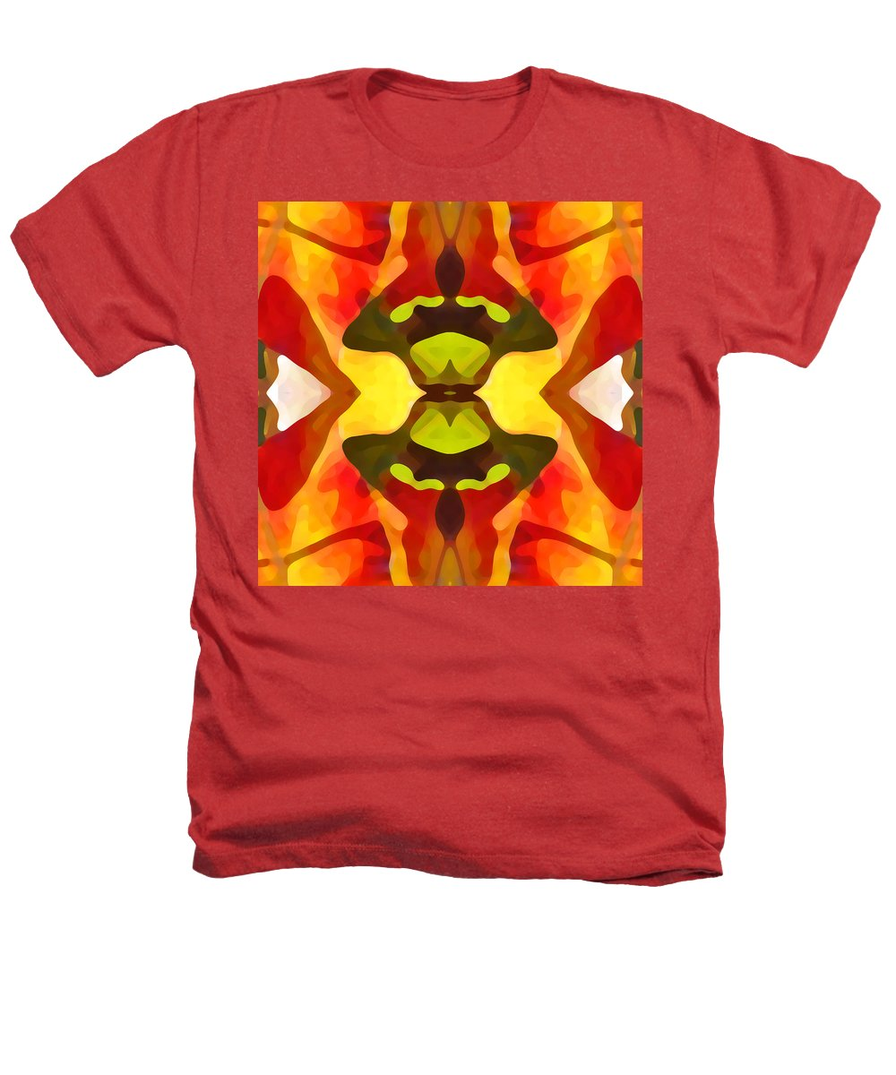 Abstract Heathers T-Shirt featuring the painting Tropical Leaf Pattern 1 by Amy Vangsgard
