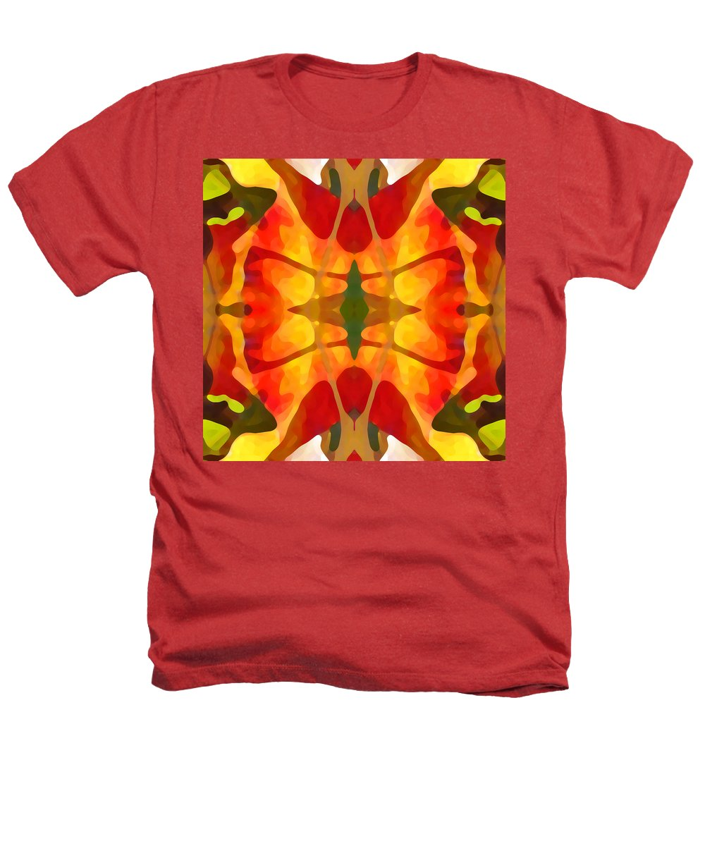 Abstract Heathers T-Shirt featuring the painting Tropical Leaf Pattern5 by Amy Vangsgard