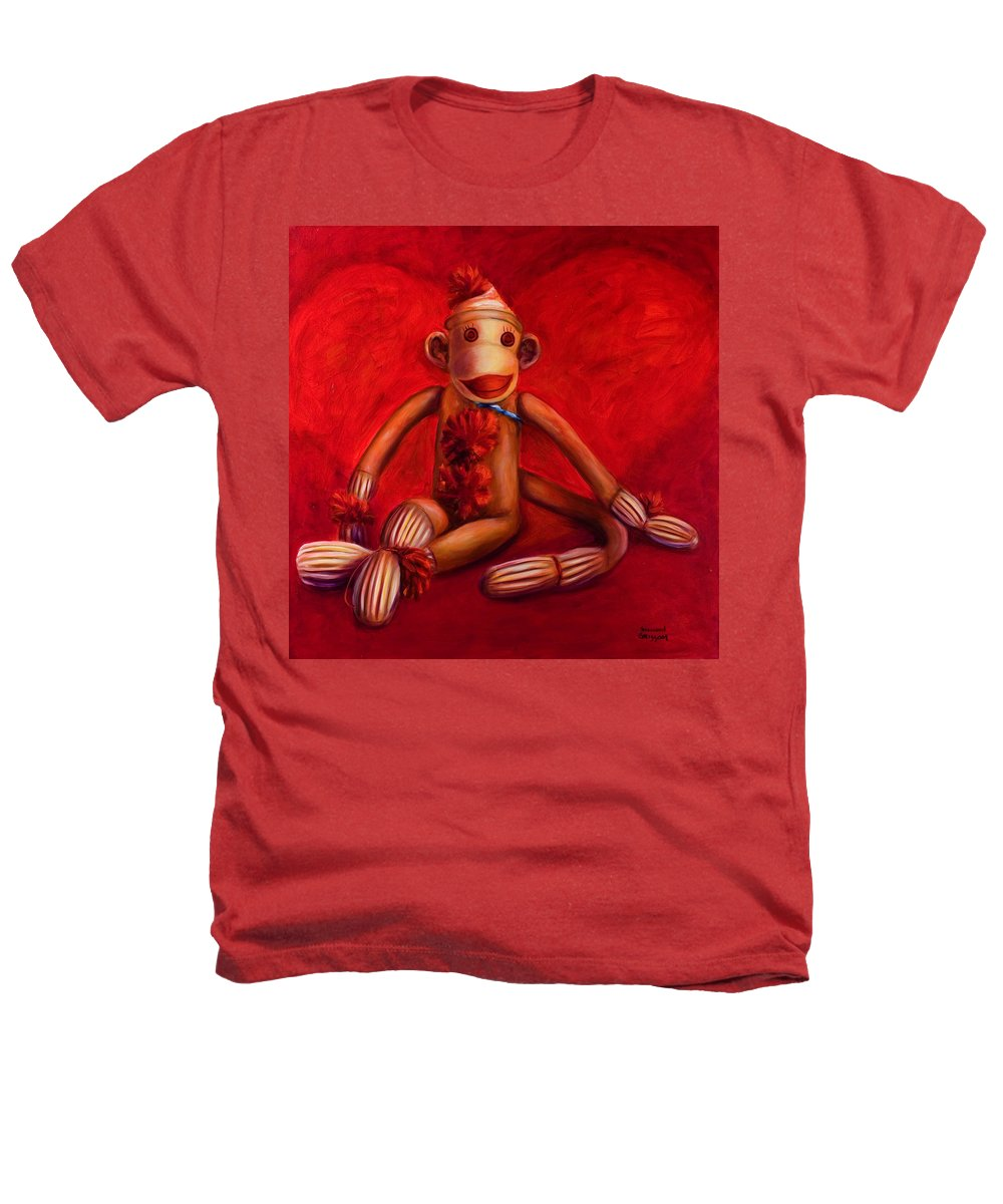 Children Heathers T-Shirt featuring the painting Valentine by Shannon Grissom