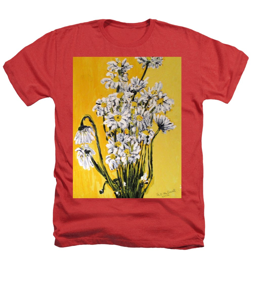 Daisy Heathers T-Shirt featuring the painting Yellow by Ian MacDonald