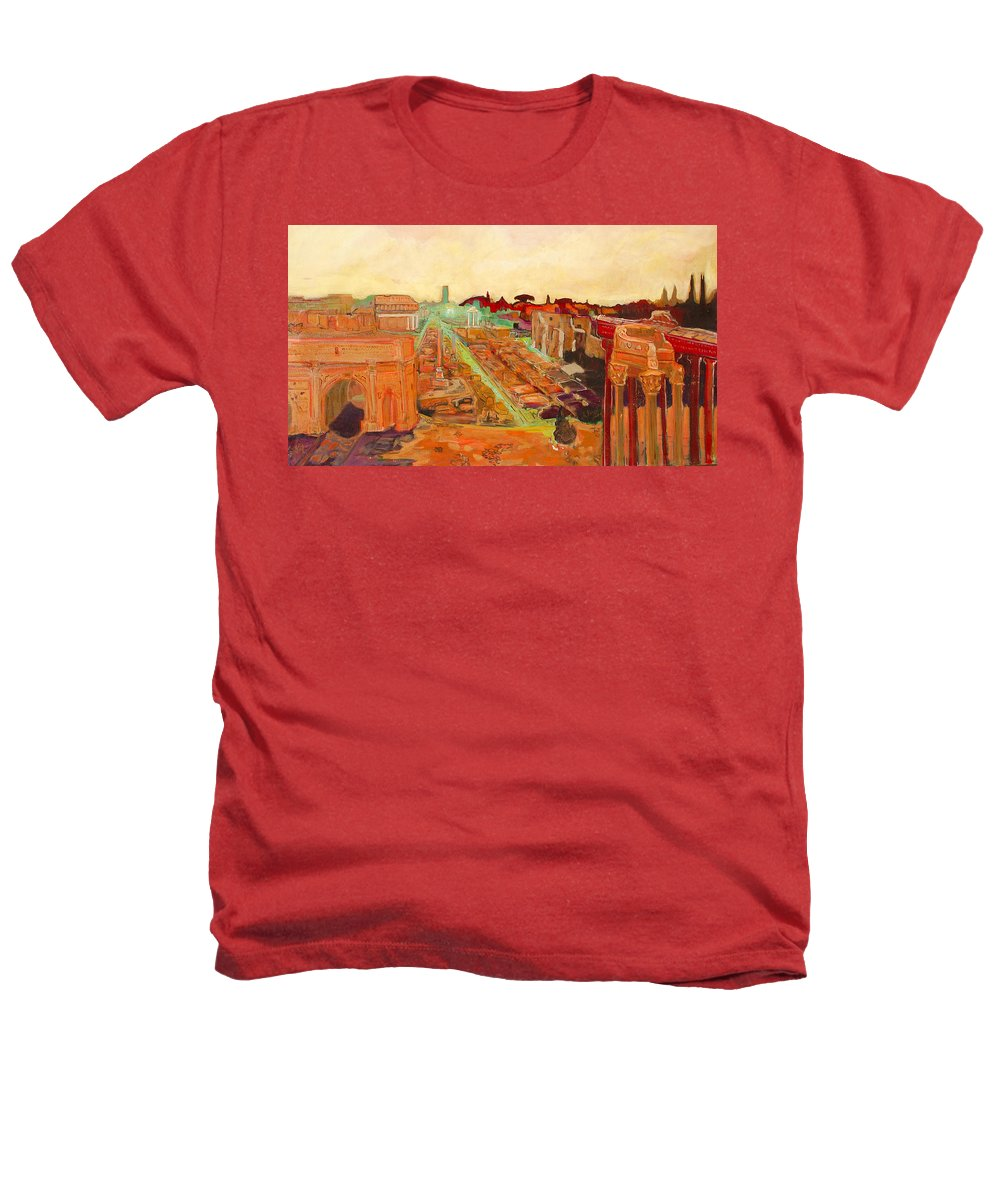 Rome Heathers T-Shirt featuring the painting Foro Romano by Kurt Hausmann