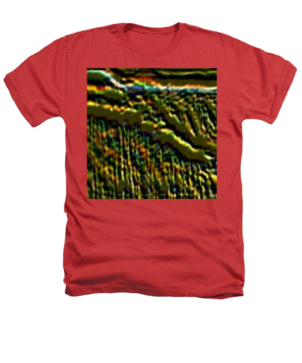 Canyons Heathers T-Shirt featuring the digital art South Rim- N -green Grandeur by Brenda L Spencer