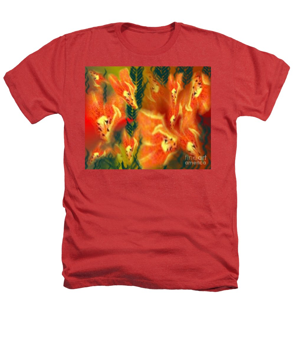 Florals Heathers T-Shirt featuring the digital art Symphonic Dance by Brenda L Spencer