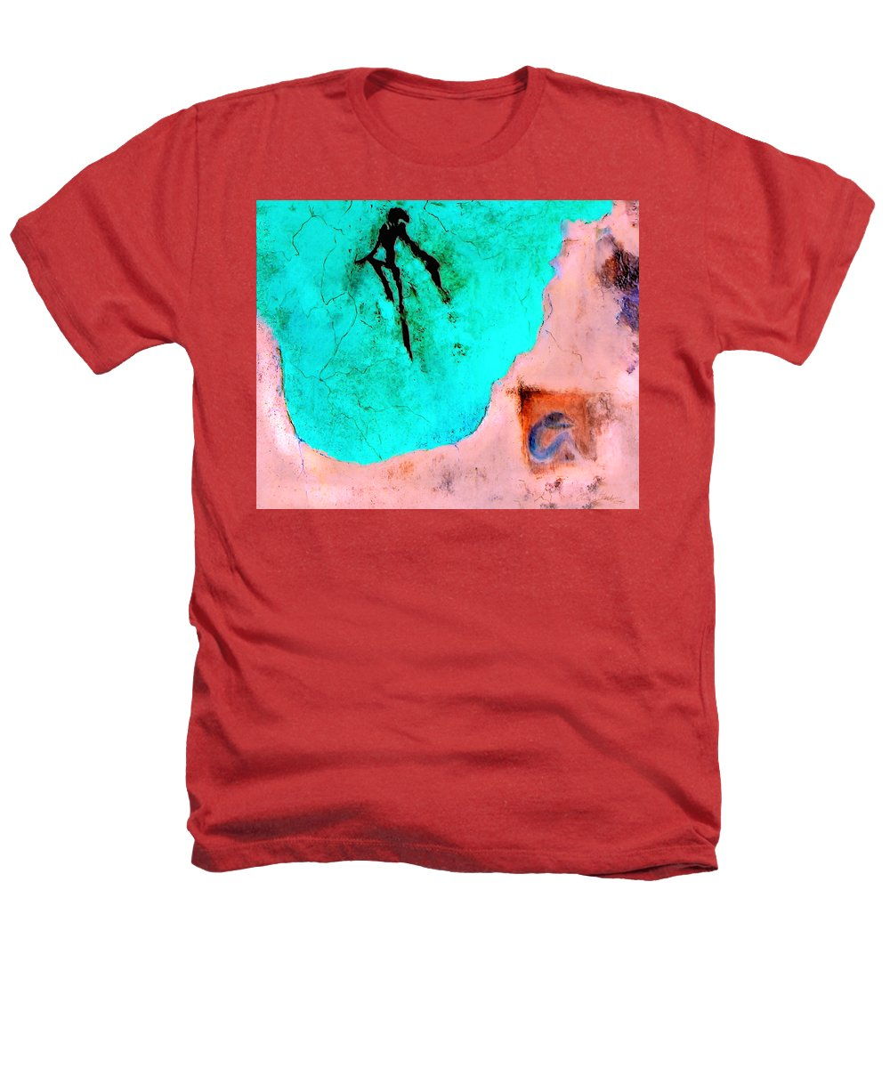Spirit Afterlife Innerself Soul Fly Heathers T-Shirt featuring the painting And The Spirit Moved by Veronica Jackson