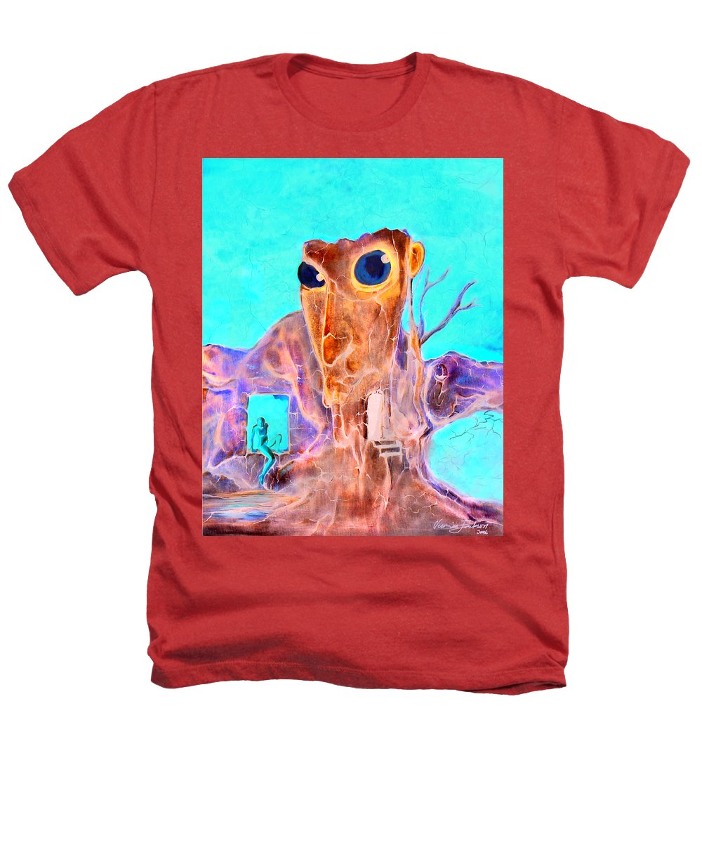 Surreal Color Eyes Structure Heathers T-Shirt featuring the painting Another Few Seconds In My Head by Veronica Jackson