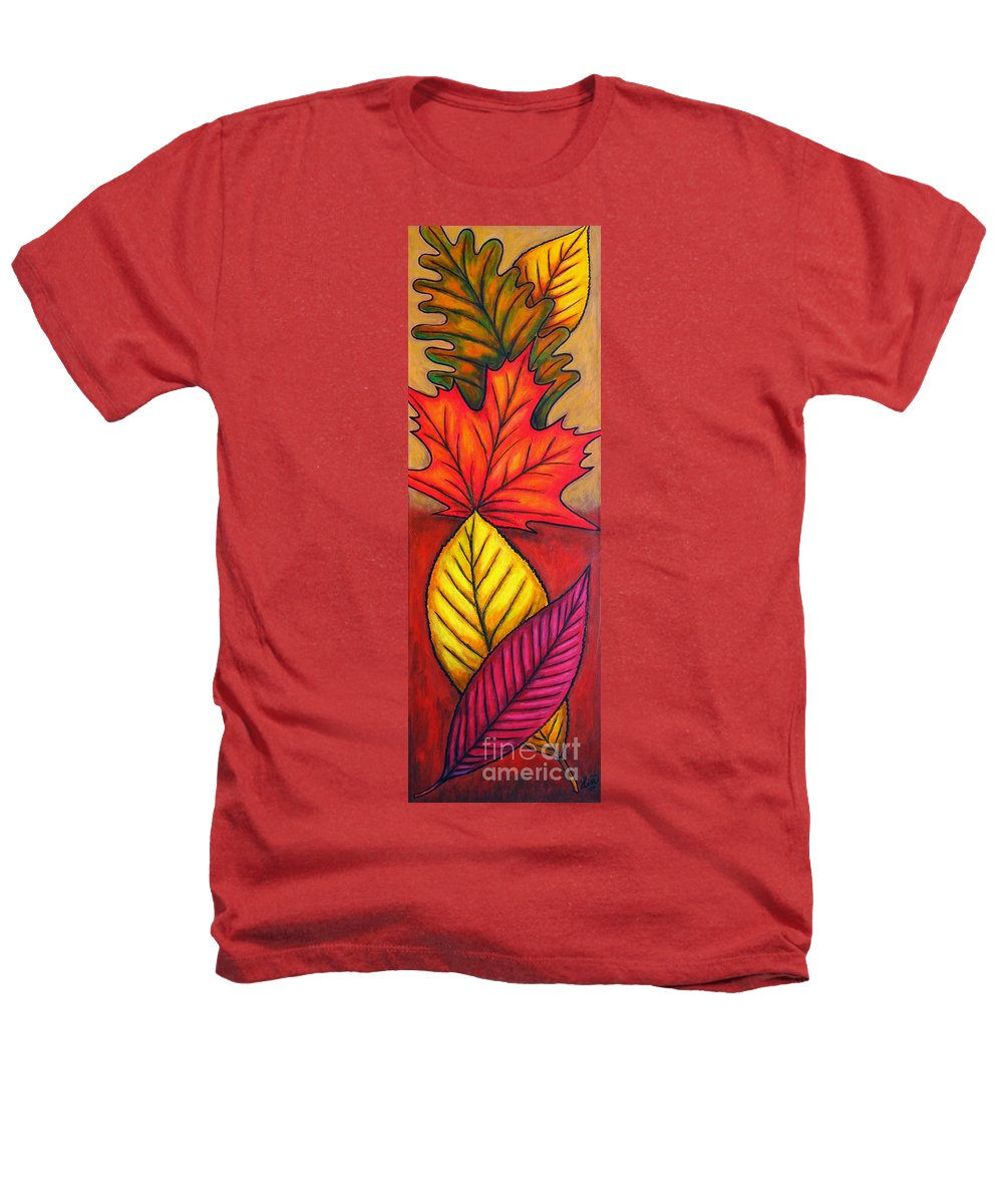 Autumn Heathers T-Shirt featuring the painting Autumn Glow by Lisa Lorenz